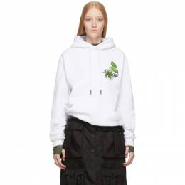 Off-White SSENSE Exclusive White Racing Arrows Hoodie 192607F09709201GB