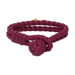 Bottega Veneta SSENSE Exclusive Red Intrecciato Bracelet 192798F02000502GB
