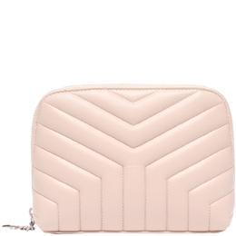Saint Laurent Beige Matelasse Leather Wallet Yves Saint Laurent 220207