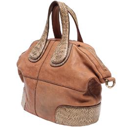 Givenchy Brown Leather Nightingale Medium Bag 220043