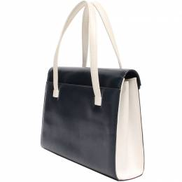 Givenchy Black/White Leather Top Handle Bag 220040