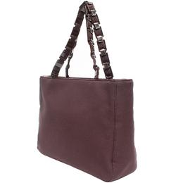 Salvatore Ferragamo Brown Canvas Shoulder Bag 220119