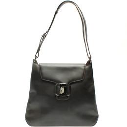 Salvatore Ferragamo Black Leather Shoulder Bag 220114