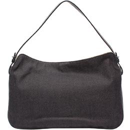 Salvatore Ferragamo Black Canvas Shoulder Bag 220103