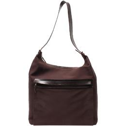 Salvatore Ferragamo Brown Nylon Shoulder Bag 220078