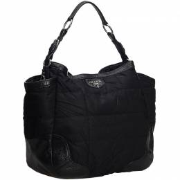 Prada Black Quilted Nylon Tote Bag 218443