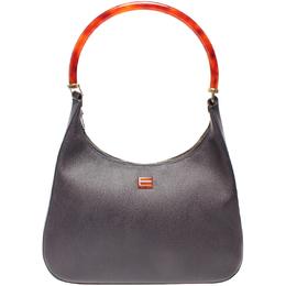 Etro Black Leather Hobo Bag 220013