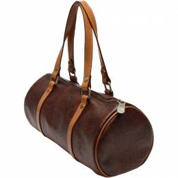 Etro Brown Paisley Printed Coated Canvas Boston Bag 220015