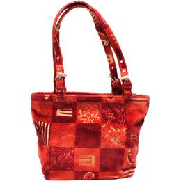 Etro Red Wool Canvas Shoulder Bag 220019