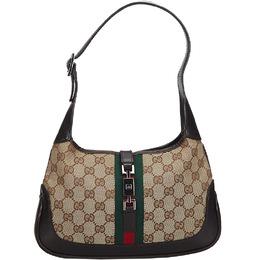 Gucci Brown/Beige GG Canvas Web Shoulder Bag 219601