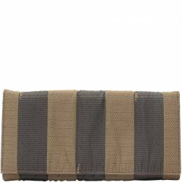Fendi Two Tone Pequin Striped Canvas Bifold Wallet 220029