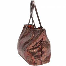 Etro Brown Sequence Canvas Tote Bag 220024