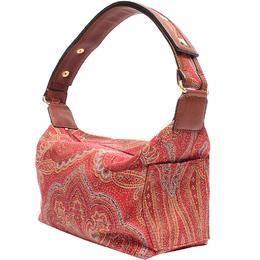 Etro Red Paisley Printed Canvas Shoulder Bag 220027