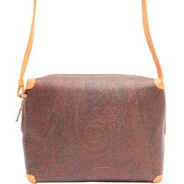 Etro Brown Paisley Printed Coated Canvas Shoulder Bag 220020