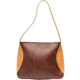 Etro Beige/Brown Paisley Printed Coated Canvas Shoulder Bag 220023