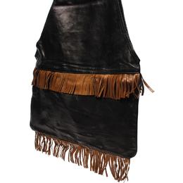 Givenchy Black/Brown Leather Fringe Shoulder Bag 220039