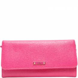 Fendi Pink Leather Crayons Continental Wallet 220033