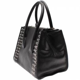 Prada Black Leather Tote Bag 220197