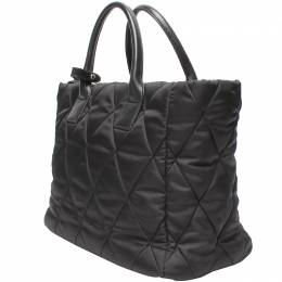 Prada Black Quilted Nylon Tote Bag 220191