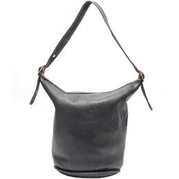 Coach Black Leather Bucket Hobo Bag 219997