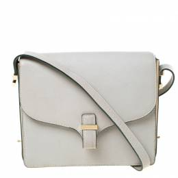 Victoria Beckham Grey Leather Shoulder Bag 219962