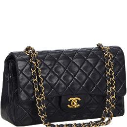 Chanel Black Lambskin Leather Flap Bag 219770