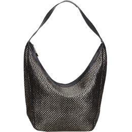 Gucci Black/Gold Woven Leather Shoulder Bag 214883