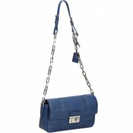 Prada Blue Leather Chain Crossbody Bag 214084