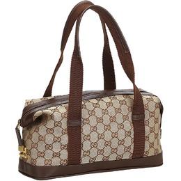 Gucci Brown GG Jacquard Small Duffle Bag 213720