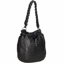 Prada Black Leather Shoulder Bag 214231