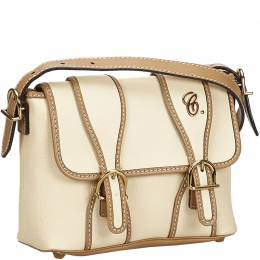 Chloe White Leather Susan Crossbody Bag 214759