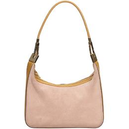 Gucci Pink/Beige Suede Shoulder Bag 215851