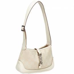Gucci White Guccissima Canvas Jackie Shoulder Bag 214865