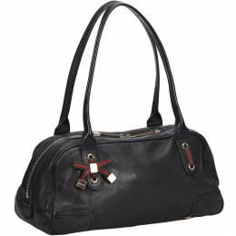 Gucci Black Leather Guccissima Princy Shoulder Bag 214869