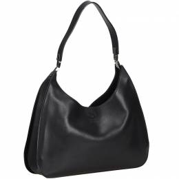 Gucci Black Leather Hobo Bag 215797