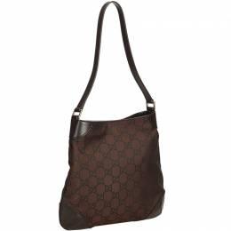 Gucci Brown Canvas GG Shoulder Bag 158892