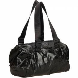 Chanel Black Coated Canvas Sport Line Shoulder Bag 156349