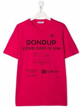 Dondup Kids футболка с логотипом BS128JY0004BW68BD