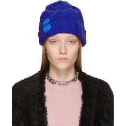 Off-White Blue Knit Pop Color Beanie OWLA008F19A280503000