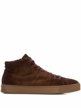 Santoni кроссовки на молнии MBGL20851COGRPSO