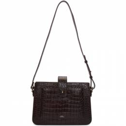 A.P.C. Burgundy Croc Albane Bag 192252F04802401GB