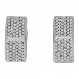 Off-White Silver Crystal Hexnut Earrings OWOD022F19G150879196