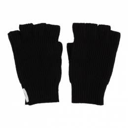 Tiger Of Sweden Black Fingerless Guus Gloves 192115M13500101GB