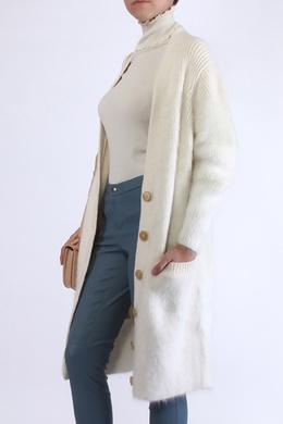Длинный кардиган комбинированной вязки Chloe 360150229