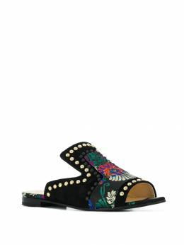 Fabi - floral embroidered sandals 569B6993663636000000