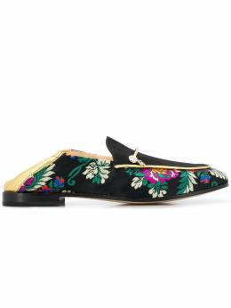 Fabi - floral embroidered loafers 358ZC093663635000000