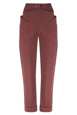 Широкие бордовые брюки Lixy Isabel Marant 140148850