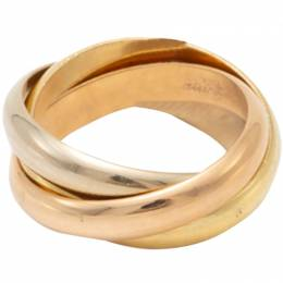 Cartier Trinity Classic 3 Tone Gold Ring Size 53