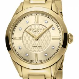 Rochas Champagne Gold-Plated Stainless Steel RP2L016M0021 Women's Wristwatch 34MM 221317