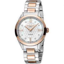 Rochas Silver Rose Gold-Plated Stainless Steel RP2L016M0051 Women's Wristwatch 34MM 221318